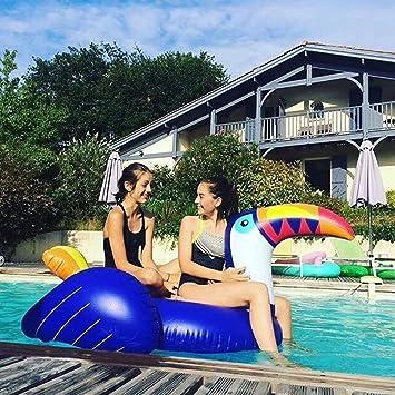 Flotador inflable gigante de la piscina del tucán - Hanmun Nueva serie Paseo del flotador del
