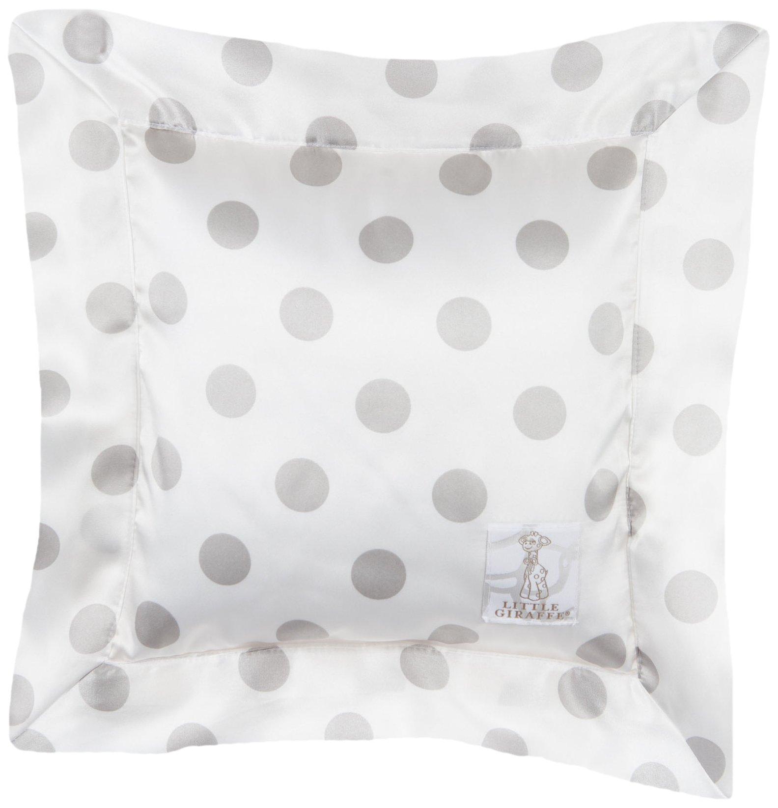 Little Giraffe Luxe Cream Dot Pillow, Silver