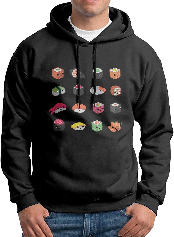 Cute Fun Japanese Food Mans Big Logo Hoodie Sweatshirts Slim Fit Long Sleeve