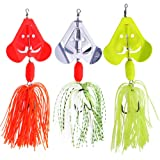 SUNMILE Fishing Buzzbait Spinnerbait Lures Double Willow Blade Spinner Baits for Bass Pike Metal Fishing Lure Pack of 3pcs