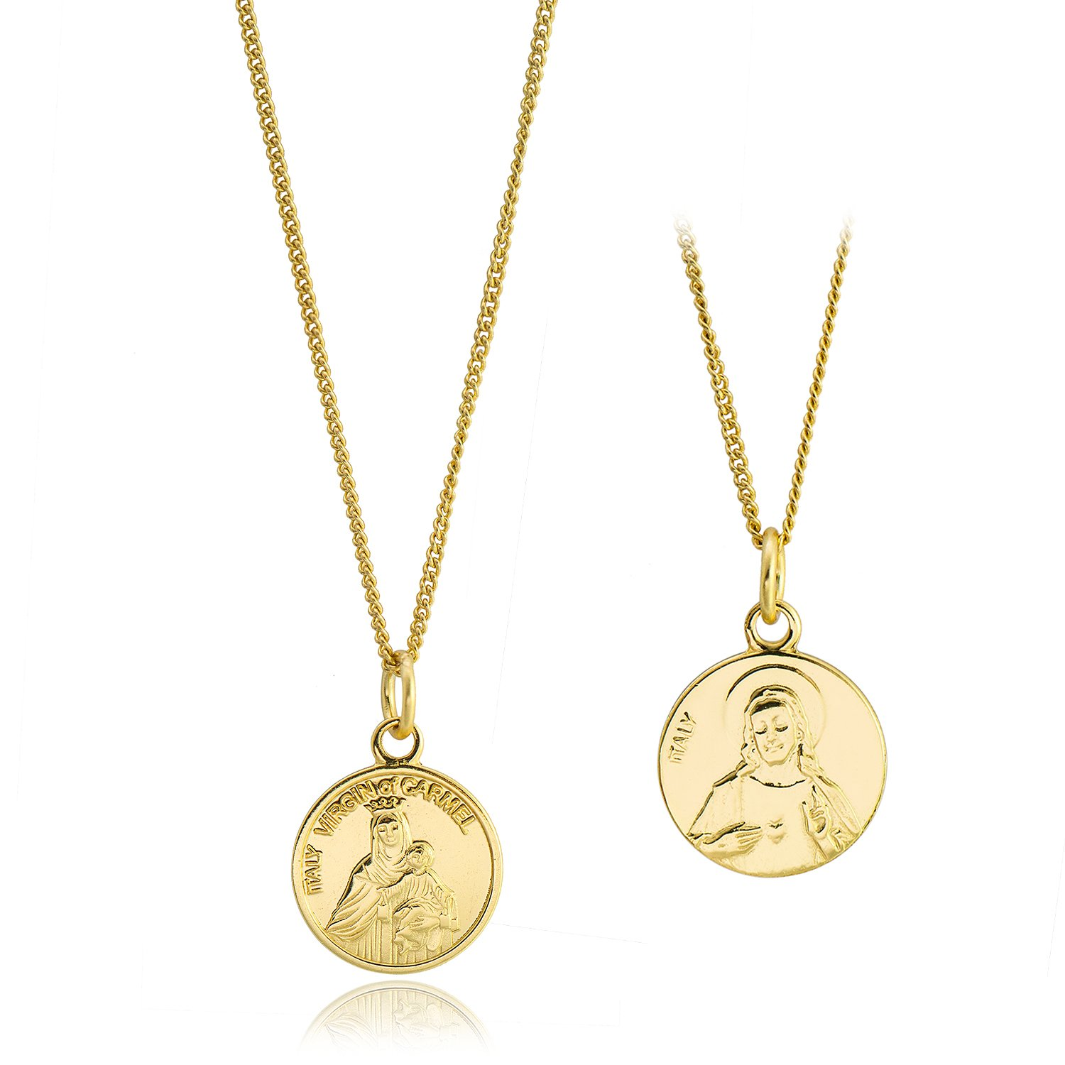 CISHOP Maryam Round Disc Pendant Necklace 18K Gold Plating Sterling Silver Collected Coin Necklace CIS-NL18-COIN03