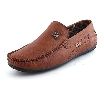 fb96f676c03 Fucasso Men's Synthetic Smart Fit Casual Tan Loafers (7 UK, TAN): Buy  Online at Low Prices in India - Amazon.in