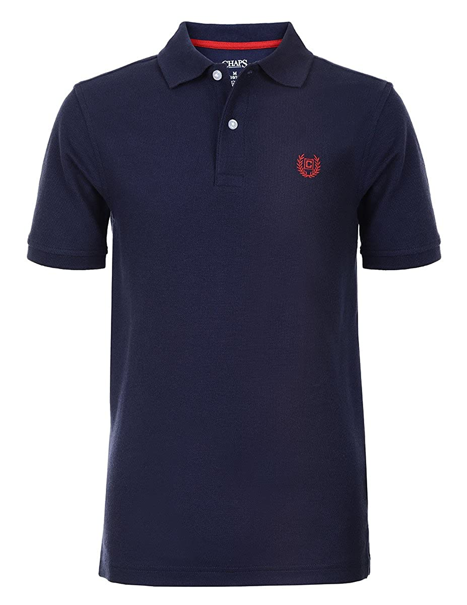 Chaps Boys Little Short Sleeve Solid Polo with Stretch, Newport ...