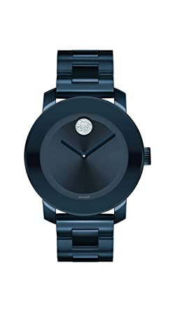 917b29110dc Movado Women s Bold Iconic Metal Blue PVD Watch with a Flat Dot Sunray  Dial