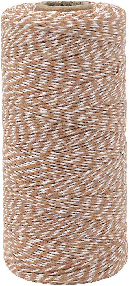 Just Artifacts ECO Bakers Twine 240-Yards 4Ply Striped Grey Decorative Bakers Twine for DIY Crafts and Gift Wrapping