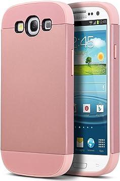 ULAK Carcasa S3, Galaxy S3 Funda Case Dura para Samsung Galaxy S3 Anti Golpes de Silicona con Protector de Pantalla (Oro Rosa): Amazon.es: Electrónica