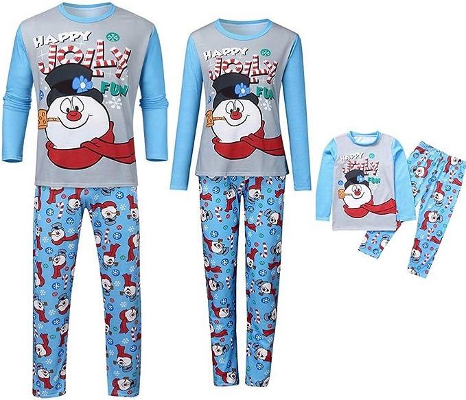 Family Pajamas Unisex Baby Boys or Girls Christmas Snowman Microfleece PJ/'s