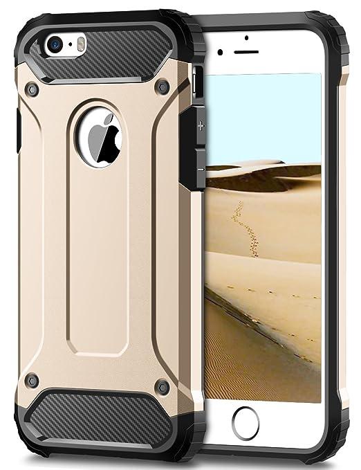 5 opinioni per Custodia iPhone SE, Cover iPhone 5S, Coolden® Hybrid Dual Layer Armor Protezione