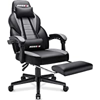 BOSSIN Racing Style Gaming Chair, 400LBS Leather Computer Desk Chair with Footrest and Headrest, Ergonomic Heavy Duty…
