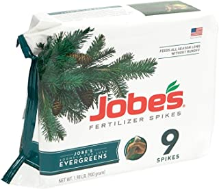 product image for Jobe's Evergreen Fertilizer Spikes, 9 Spikes (New Version)