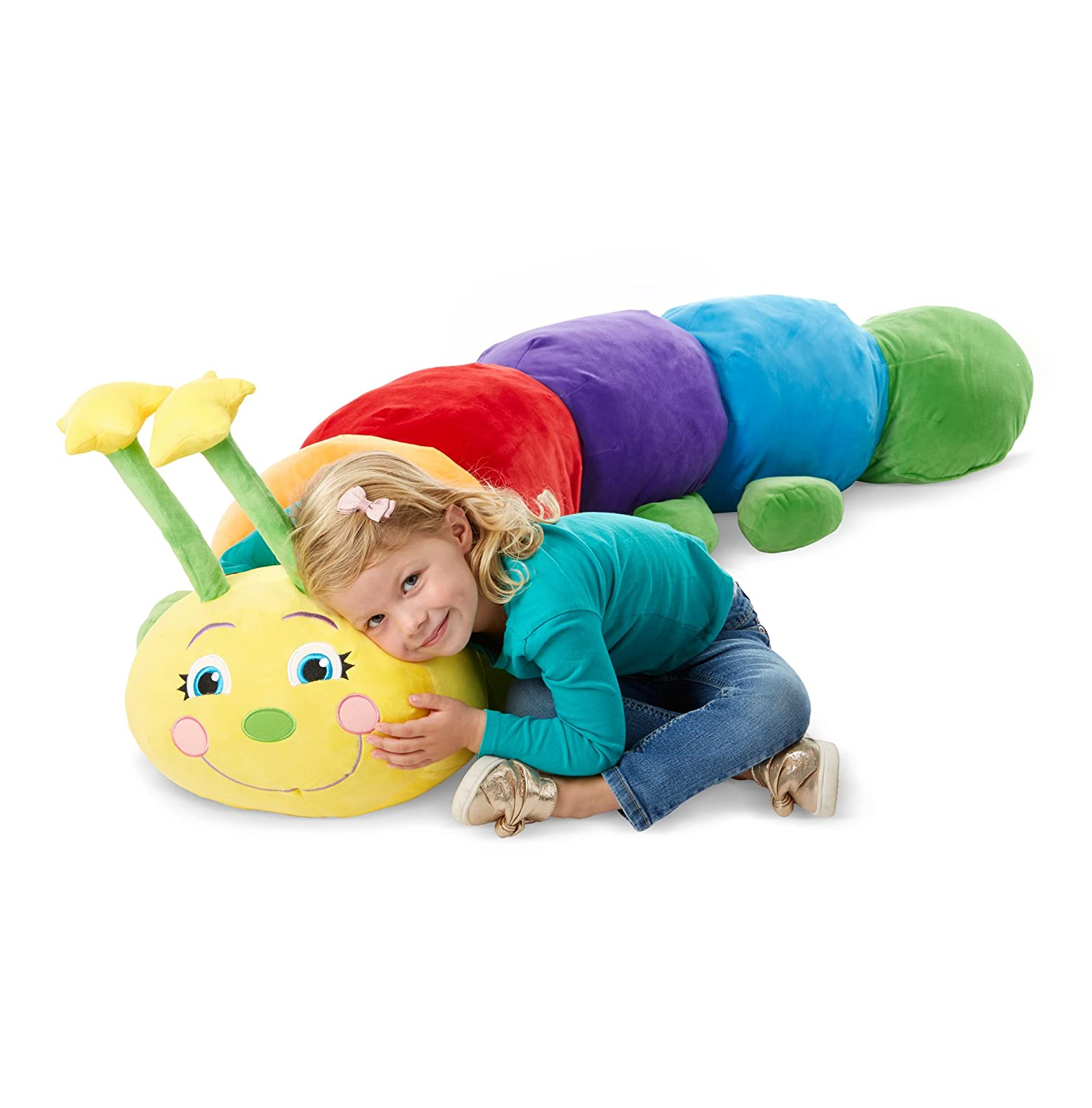Melissa Doug Plush Jumbo Caterpillar Stuffed Animal 63W x 18H x 17D in