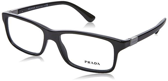 a43766a96dd Prada PR06SV Eyeglass Frames 1AB1O1-54 - Black PR06SV-1AB1O1-54 at ...