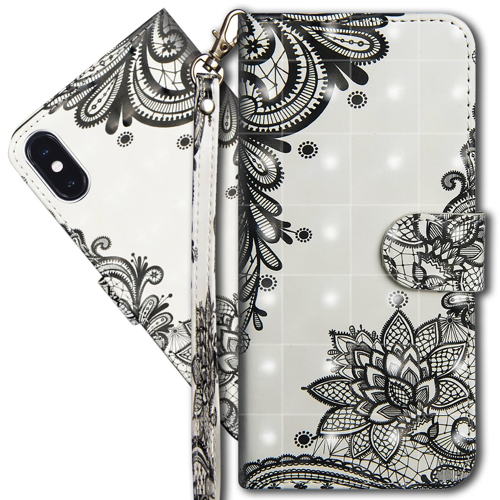 iPhone X Wallet Case COTDINFORCA 3D Creative Painted Effect Design Full-Body Protective Cover for Apple iPhone X//iPhone 10-5.8 inch PU- Tree Cat iPhone X Premium PU Leather Case