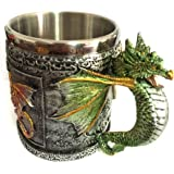 Anself Unique Stainless Steel 3D Royal Dragon Coffee Beer Milk Mug Cup Tankard Novelty, Decoration Gift