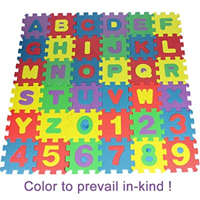 Yiiena 36PCS Baby Kids Alphanumeric Educational Puzzle Foam Mats Blocks Toy Gift Puzzle Play Mats: Kitchen & Dining