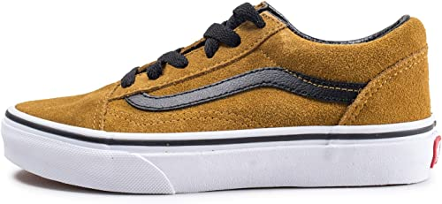 Vans Old Skool Jaune Moutarde Daim Enfant Jaune 33: Amazon ...