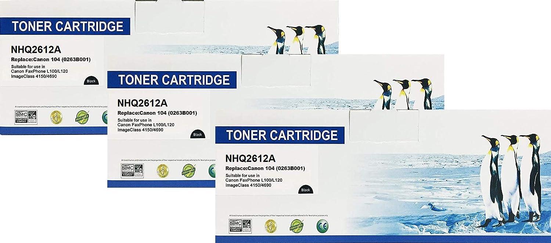 MF6570 Printers Canon 104-0263B001AA MF4690 for Canon Fax L100 Supply Spot offers 3 PK Compatible Canon 104 Toner Cartridge MF4150 MF4130 L120 ImageClass MF4150
