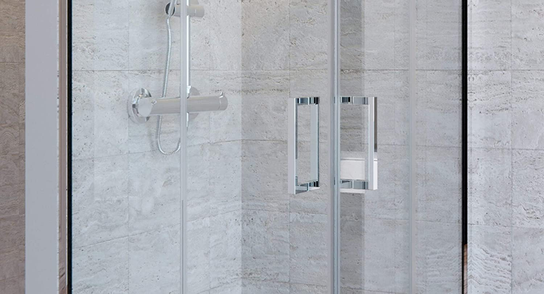 OL duchas mampara de Ducha Angular h190 CM de Cristal 6 mm ...