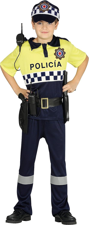 Guirca- Disfraz policía local, Talla 5-6 años (87508.0) , color/modelo surtido