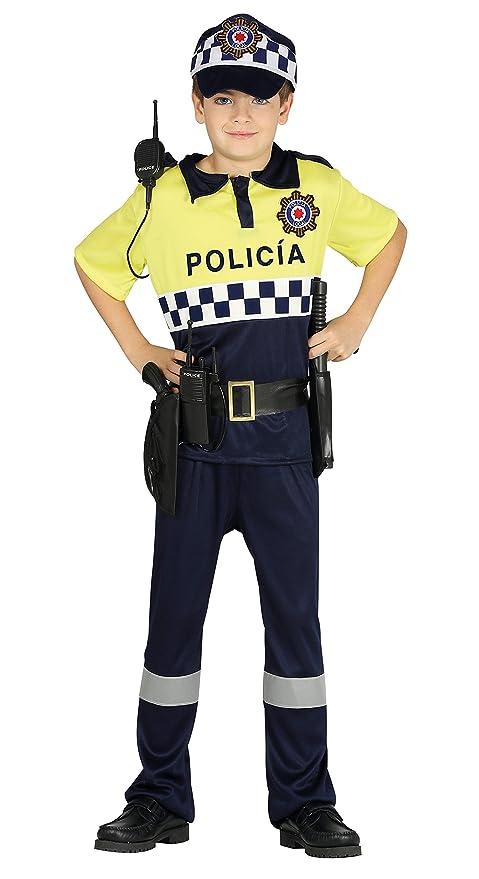 Guirca- Disfraz policía local, Talla 7-9 años (87509.0)