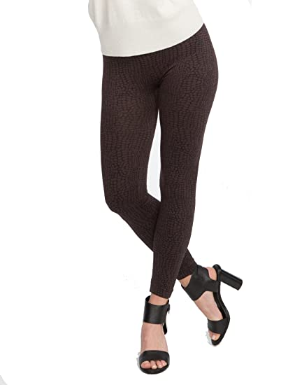 9411112a8a7df3 SPANX Seamless Camo Leggings, Brown Croc, Medium at Amazon Women's Clothing  store: