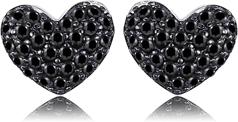 JewelryPalace Pendientes Amor corazón 0.29ct Espinela creado en Plata de ley 925