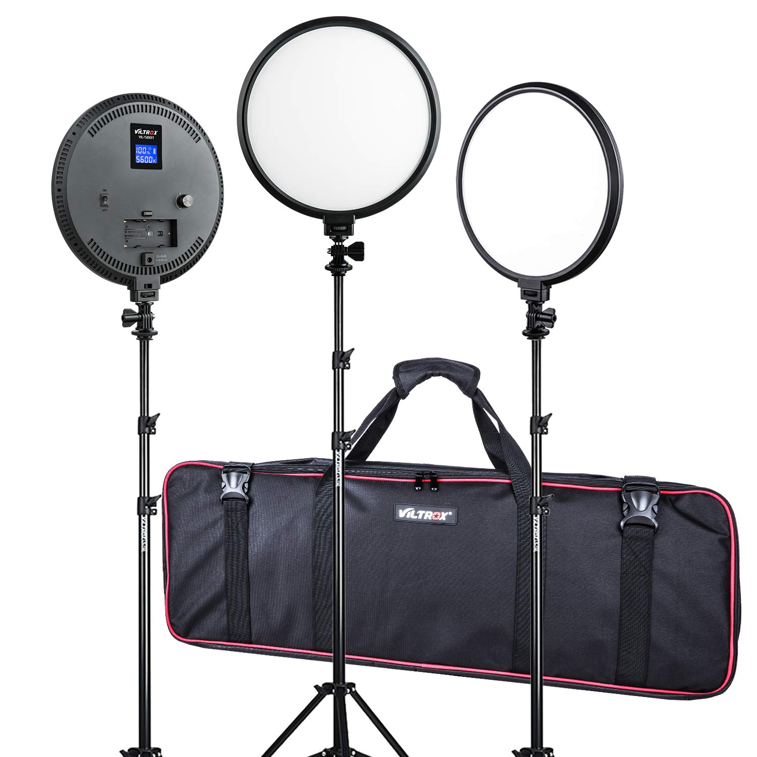 (3 Pack) VILTROX FlapJack Studio Light kit, 10-Inch Bi-Color 2000LM LED Studio Round Light with Stand, for Child Photography,Portrait and Video Shoot Studio Photography
