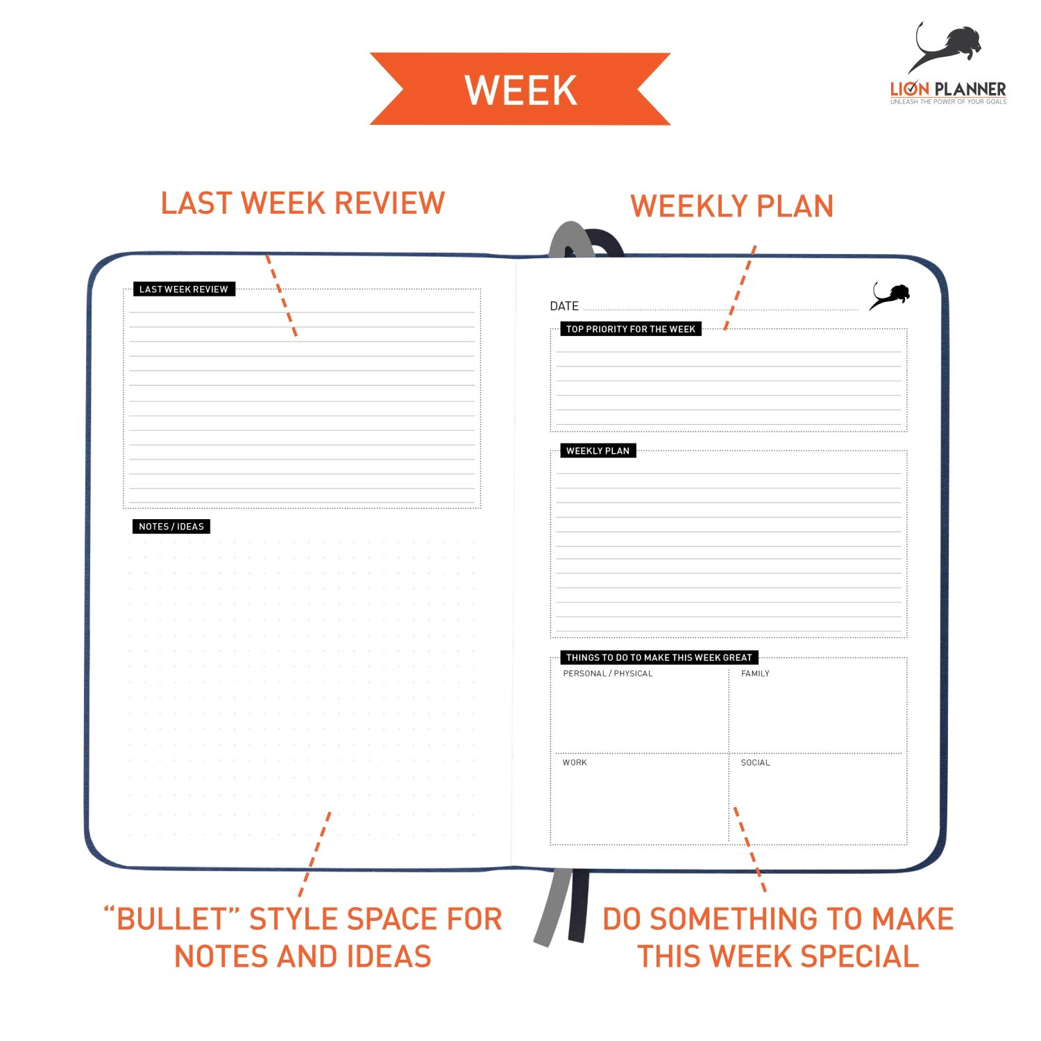 daily planner calendar and gratitude journal to increase