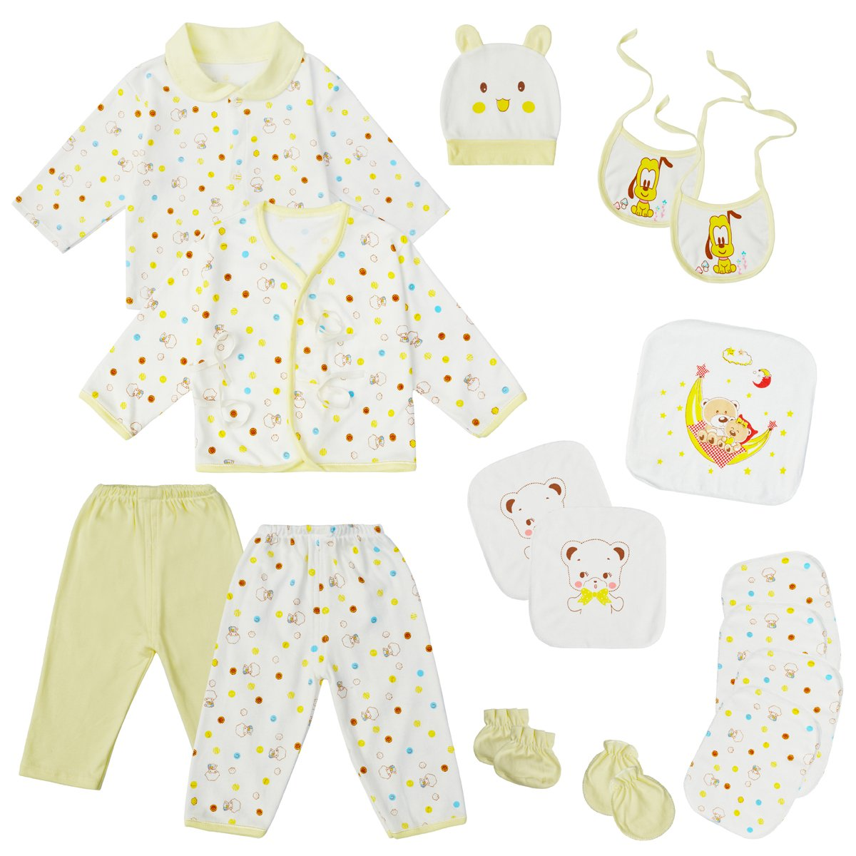 0-3 Months Baby Girl Boy Clothes Newborn Layette Set Infant Essentials Outfits Banjvall BJ_002_Blue