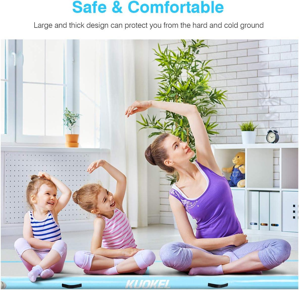 Luftpumpe Blau KUOKEL 3M*1M Aufblasbare Gymnastic Tumbling Matten Yoga Fitness