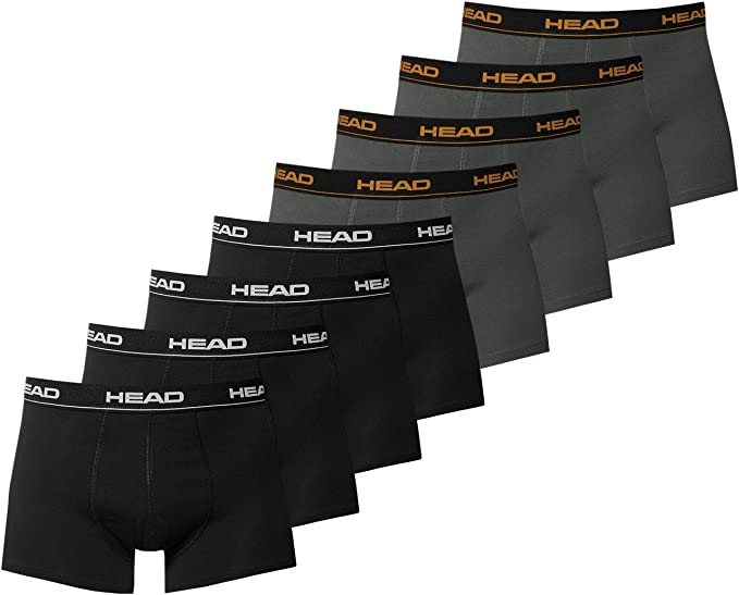 TALLA L. HEAD Basic Boxer 2P, Calzoncillos/Boxer para Hombre, Pack de 2
