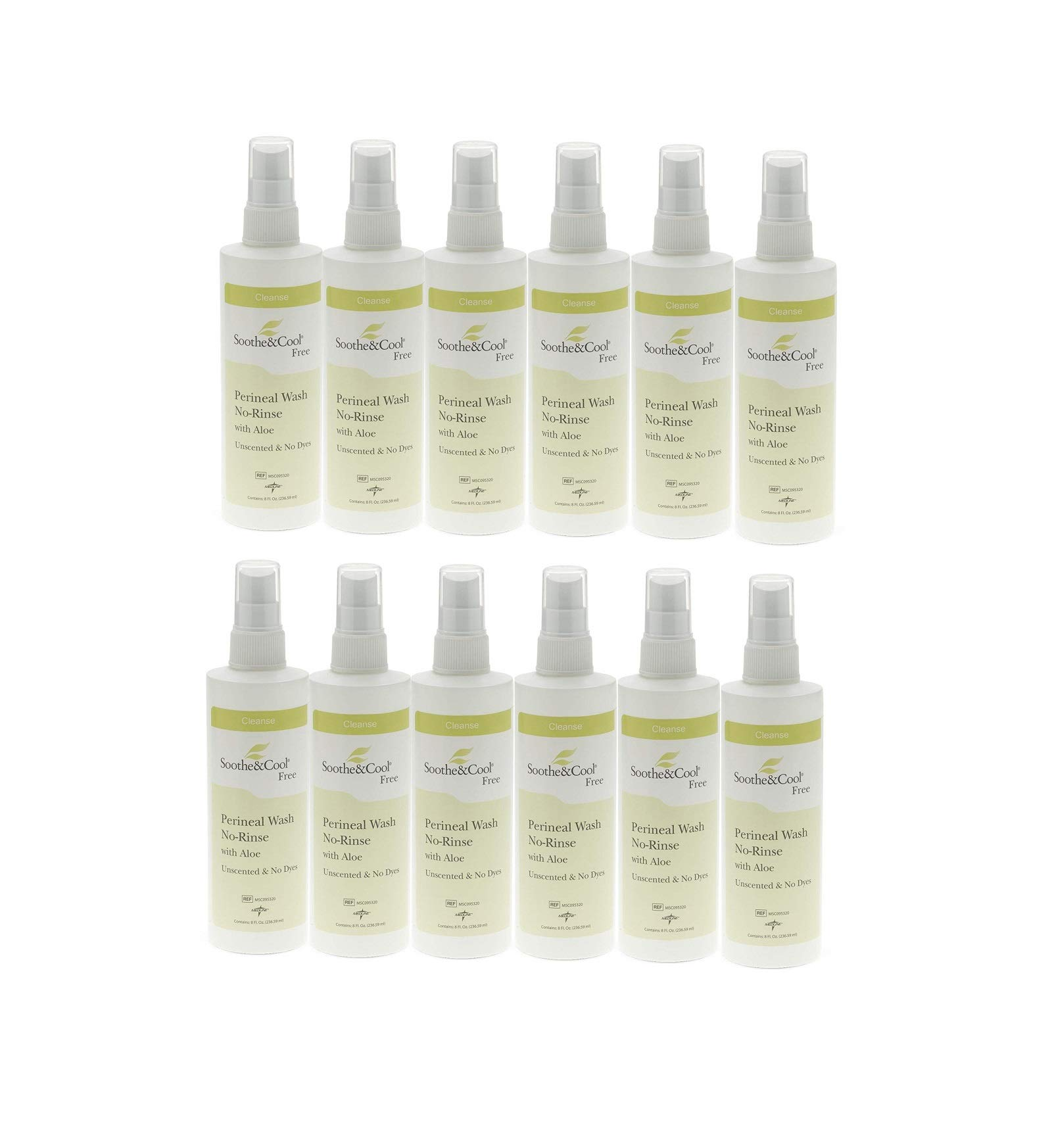 Soothe & Cool No Rinse Perineal Spray Case of 12 by Medline