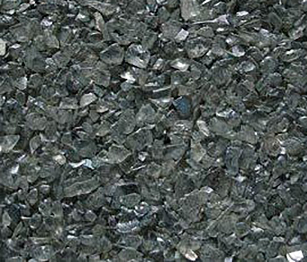 Safe & Non-Toxic {0.06'' to 0.12'' Inch} 25 Pound Bag of Gravel, Sand & Pebbles Decor Made of Genuine Glass for Freshwater & Saltwater Aquarium w/ Modern Metallic Simple Edgy Versatile Style [Gray]