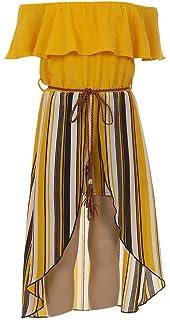 afa8dbd79dc BluNight Collection Little Girls 2 Ways Ruffle Hi Lo Maxi Skirt Romper Belt  Jumpsuit Romper USA