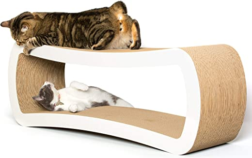 PetFusion Jumbo Cat Scratcher Lounge. [Superior Cardboard & Construction, Significantly outlasts Cheaper alternatives]