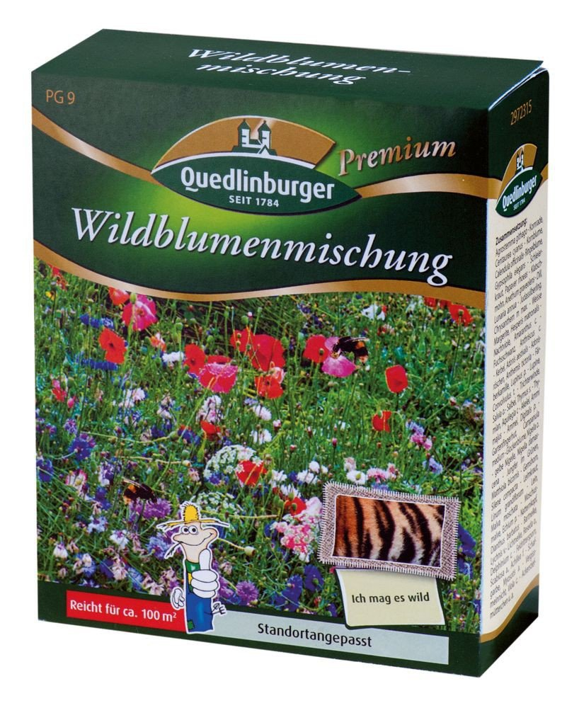 blumenwiese wildblumenmischung ohne gr ser von quedlinburger saatgut ebay. Black Bedroom Furniture Sets. Home Design Ideas