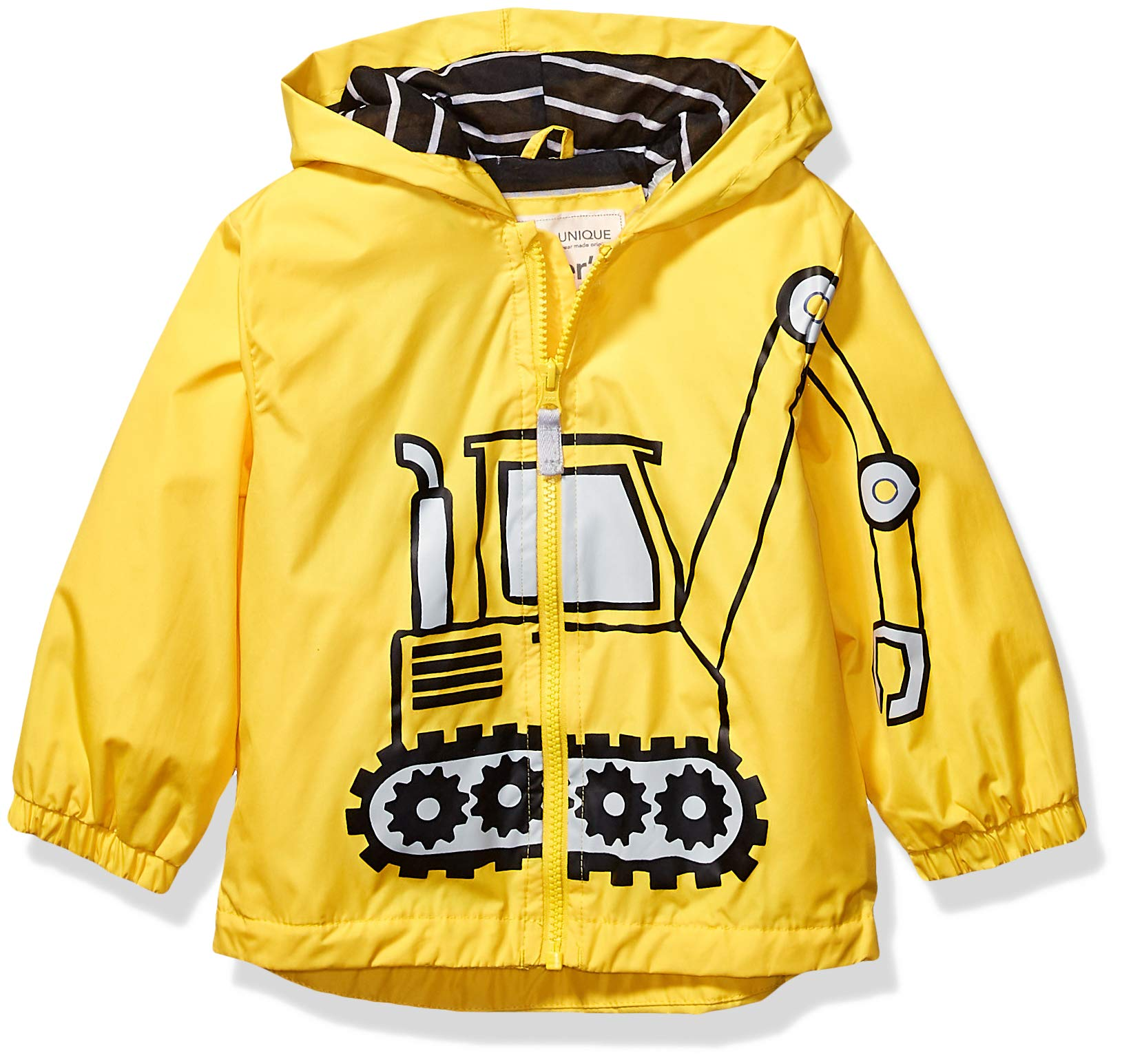 Carter's Boys' Toddler Favorite Rainslicker Rain Jacket, Yellow Tractor, 2T by Carter's