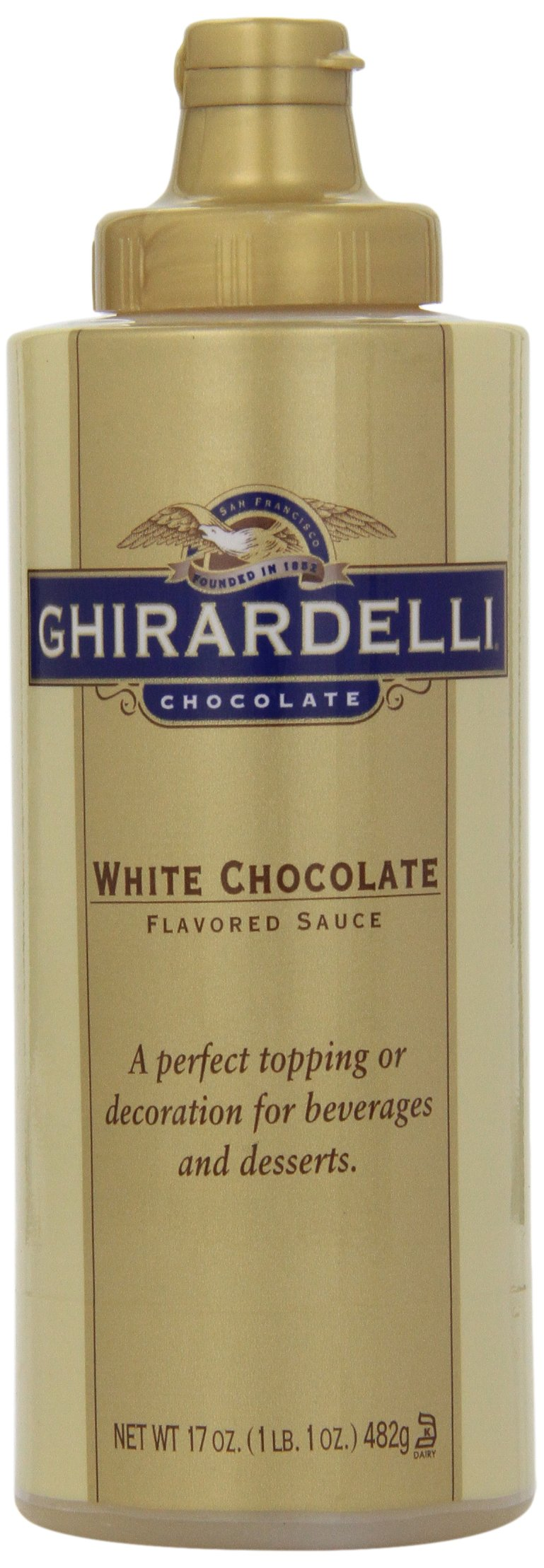 Ghirardelli White Chocolate Flavored Sauce, 17-Ounce Bottles (Pack of 6)
