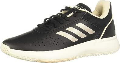 Adidas Courtsmash Womens Sneakers, Black (Core Black/Platin Met./Linen), 40 EU