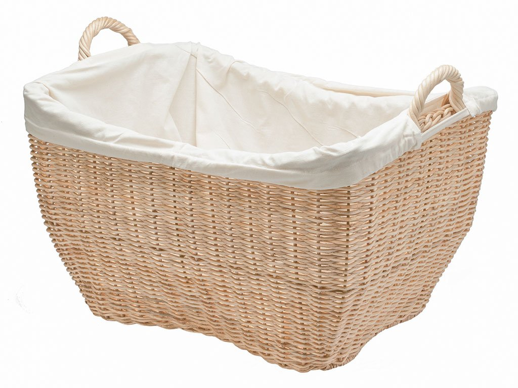 Amazoncom KOUBOO Wicker Laundry Basket with Liner Natural Color