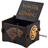 صندوق الموسيقى الصغير الكلاسيك النسخة السوداء مكتوب عليه ستارك من مسلسل لعبة العروش