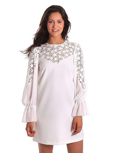superior quality c2a6e eb93b Denny Rose 811DD10000 Vestito Donna Bianco 42: Amazon.it ...