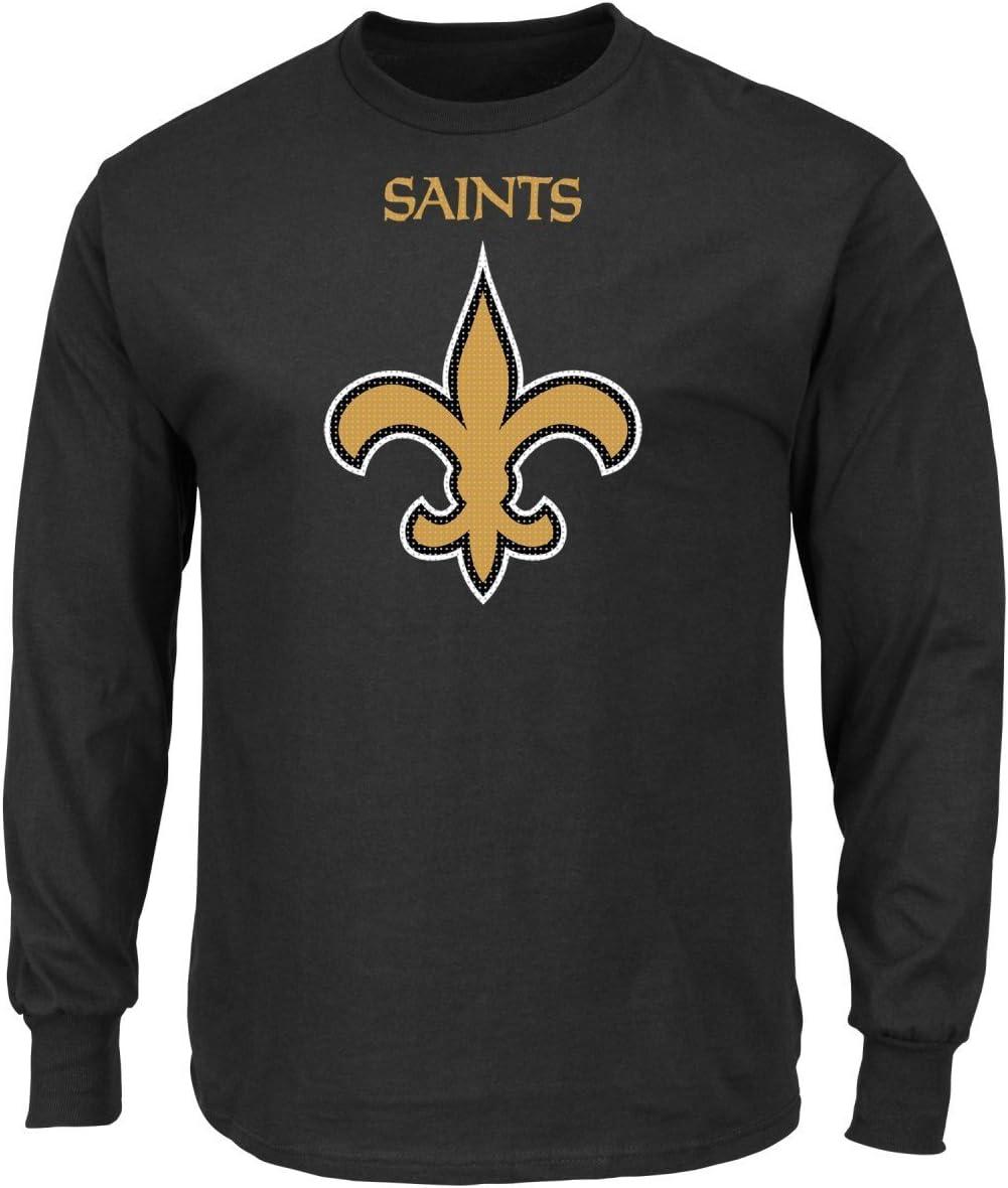 New Orleans Saints Majestic NFL Critical Victory 2 Mens Long Sleeve T-Shirt