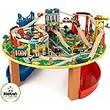 KidKraft -  Ensemble train et table en bois City Explorer