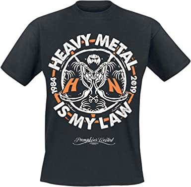 Helloween Heavy Metal Is My Law Camiseta Negro, Regular: Amazon.es: Ropa y accesorios