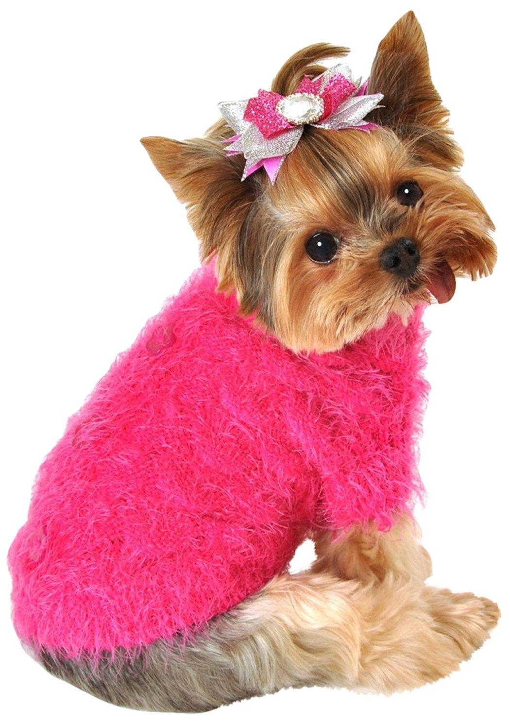 Hip Doggie Angora Blossom Sweater, L