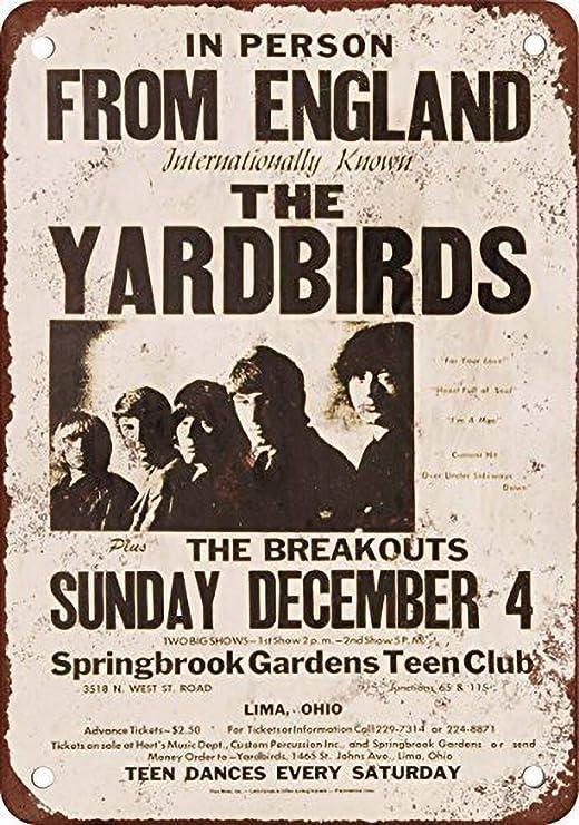 Fluse 1966 The Yardbirds in Lima Ohio Vintage Metal Art Chic ...