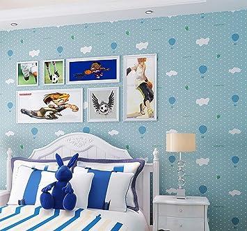 KUKI Grüne Vliestapete Rosa Blau Grau Beige Junge Mädchen Warme Karikatur  Kinderzimmer Tapete , 2