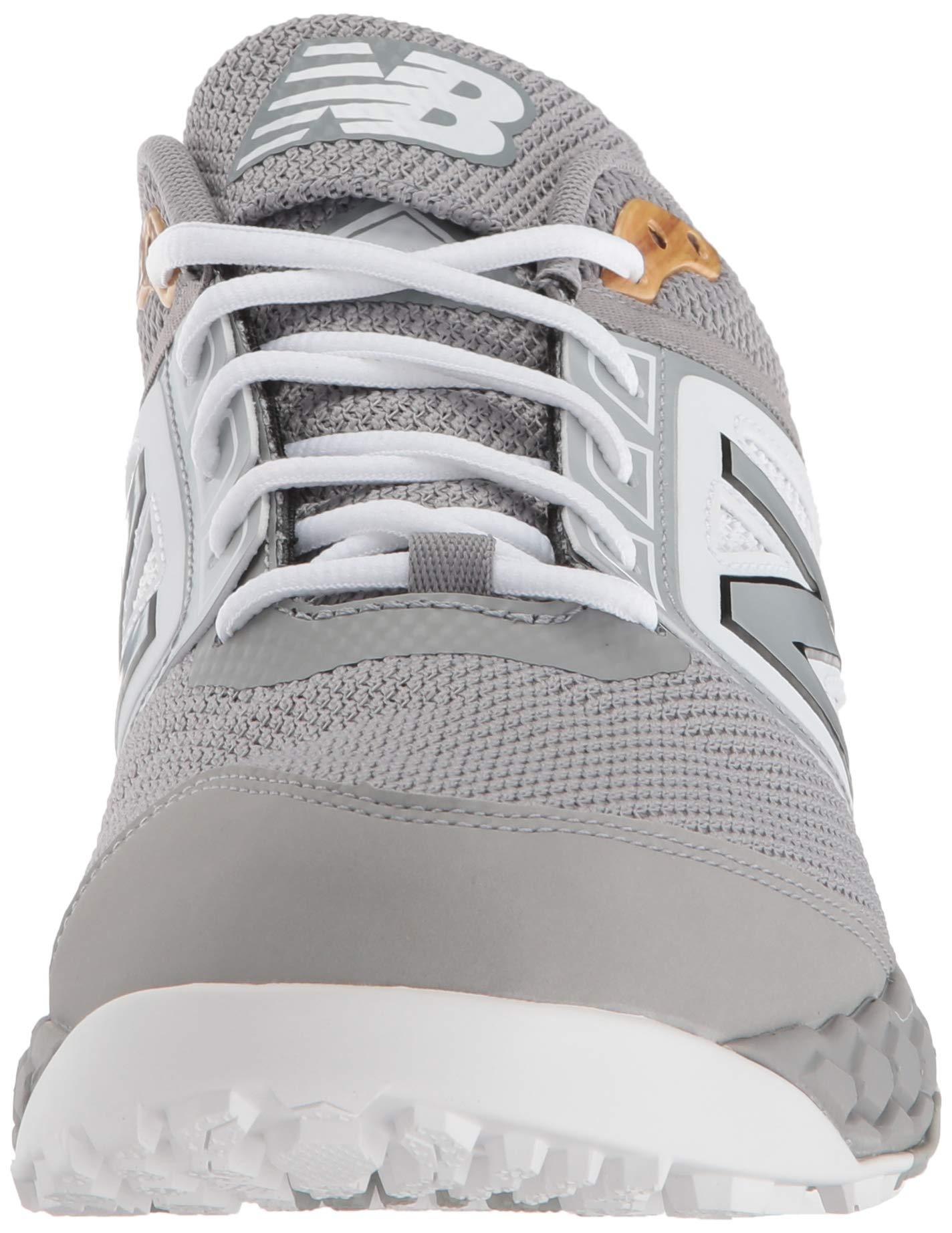 New Balance Men's 3000v4 Turf Baseball Shoe, Grey/White, 5 D US by New Balance (Image #4)