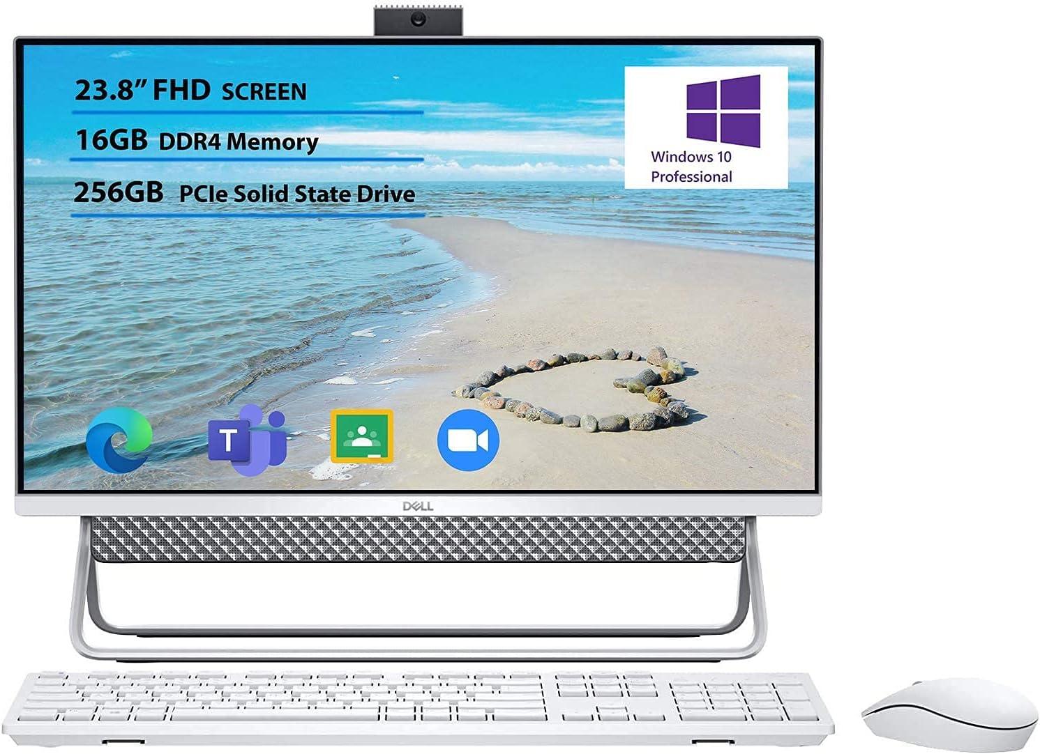 "Newest Flagship Dell Inspiron 24 5000 All in one Desktop Computer 23.8"" FHD Narrow Border Display Intel Core i3-10110U 16GB RAM 256GB SSD Intel UHD Graphics USB-C Wifi5 Windows 10 Pro"